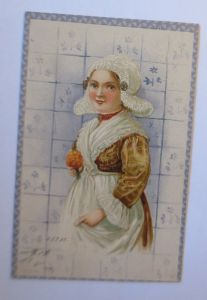 Kinder, Mode, Delfterkacheln, 1902, Prägekarte  ♥ (71230)