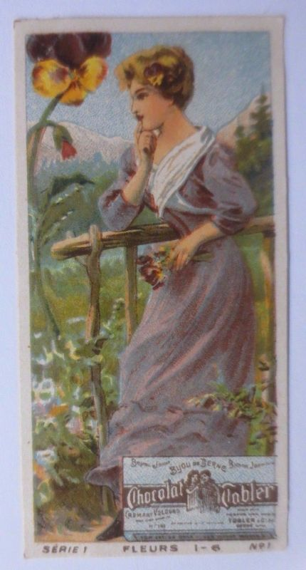 Kaufmannsbilder, Chocolat Tobler, Frauen Mode, Serie1   1900 ♥ (61413)