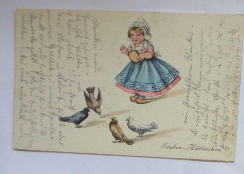 Kinder, Tauben, Tauben-Mütterchen,   1916 ♥ (70078)