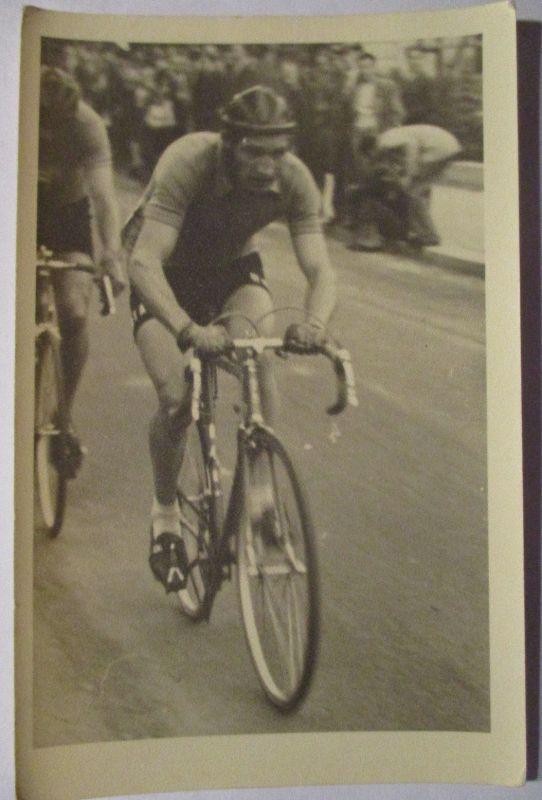 Fahrrad, Rennfahrer, Fotokarte mit Text, Namensangabe (21673)