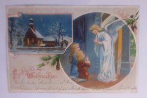 Weihnachten, Kirche, Engel, Kinder, Beten,    1908  ♥ (62483)