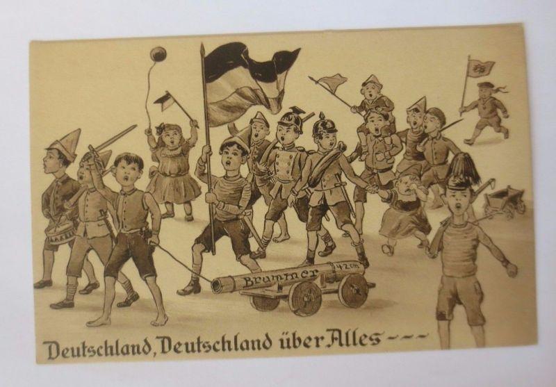 Kinder, Soldaten, Fahne, Deutschland über Alles, 1916 ♥ (52004)