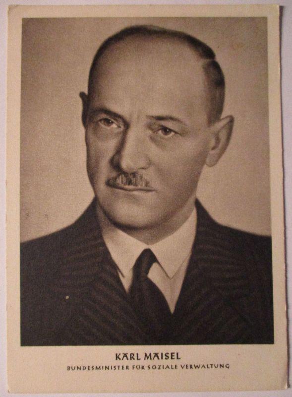 Österreich Politik, Karl Maisel Bundesminister SPÖ (26419)