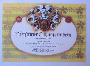 Weinetikett, Niersteiner Schnappenberg, Rheinhessen,Steinheim am Main ♥(67865)