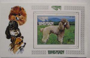 Bhutan Block 56 Hunde Pudel postfrisch (34734)