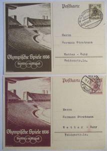 D.Reich Olympia Ganzsachen 1936 gestempelt (490)