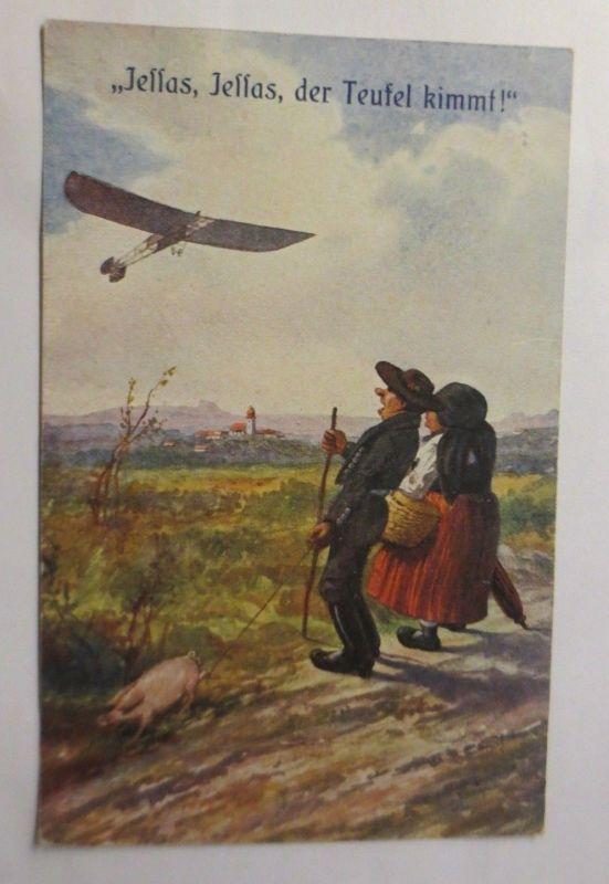 Neujahr, Schwein, Mundart, Jessas, Jessas,  Der Teufel kimmt, 1925 ♥ (71401)
