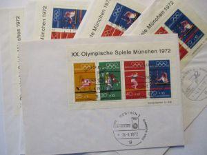Deutschland, Olympia Block 8, 10 mal auf Brief mit SST (495)