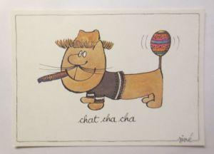 Humorkarte,  Sine, Chat cha cha, 1980 ♥  (71554)