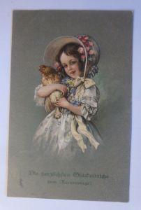 Namenstag, Biedermeier, Kinder, Mode, Hahn,   1910 ♥ (71351)