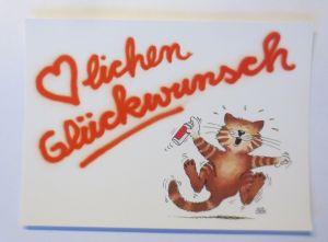 Cartoon Uli Stein, Herzlichen Glückwunsch,   60/38  ♥  (71505)