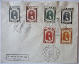 Island, Nr. 231-236 Republik FDC 1944 (49872)