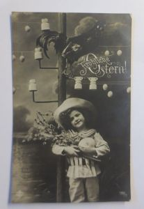 Ostern, Kinder, Mode, Osterei, Weidenkätzchen,  1912 ♥ (71965)