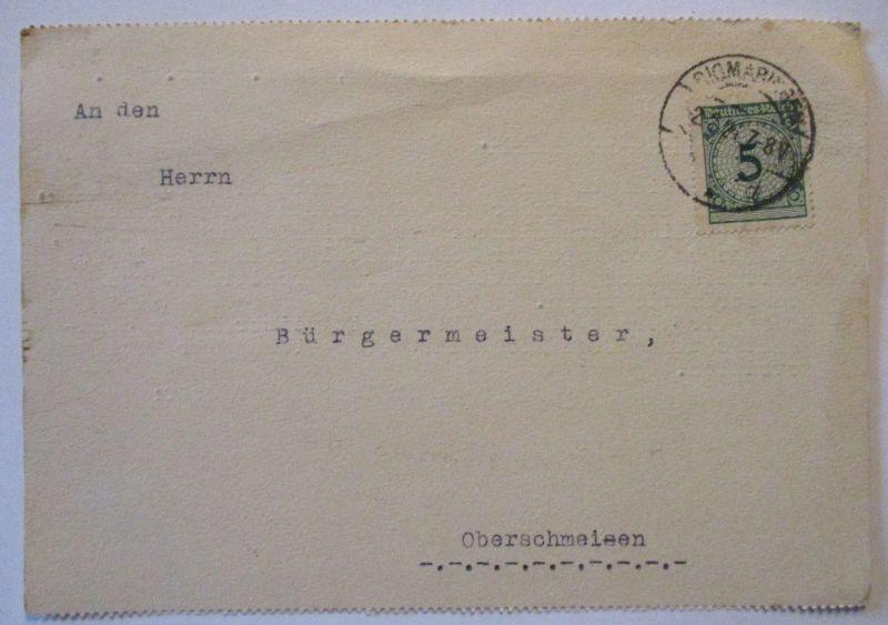 D.Reich Dienst 1924 Landwirtschaftskammer Sigmaringen nach Oberschmeisen (71593)