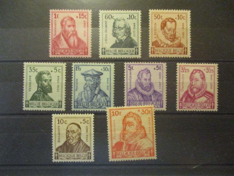 Belgien Michel 593-601 postfrisch von 1942 (27916)