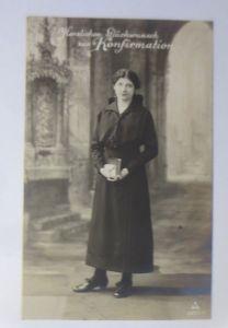 Konfirmation, Frauen, Mode, Gebetsbuch, Kirche, 1910 ♥ (71959)