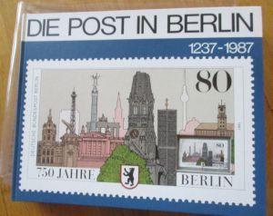 Die Post in Berlin, 1237-1987, Großformat 410 reich illustrierte Seiten