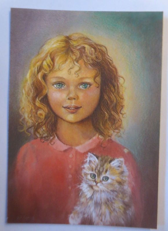 Katze, Kinder, Serie 519/3-Enfants, 1980, Paris ♥ (71890)