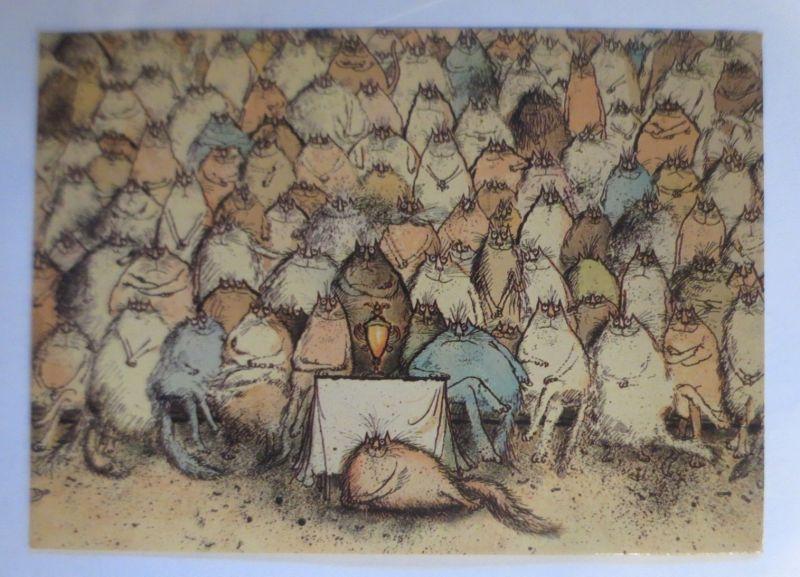 Katzen, Ronald Searle, The Champions, Camden Graphics, London, 1976 ♥ (71922)
