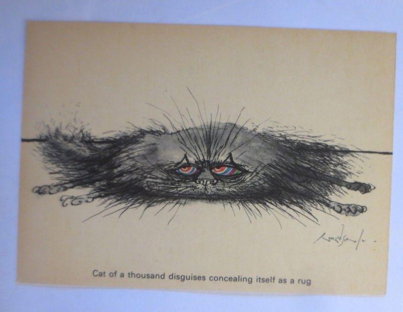 Katzen, Ronald Searle, Cat of a Thousand, Camden Graphics 1981, London ♥ (71913)