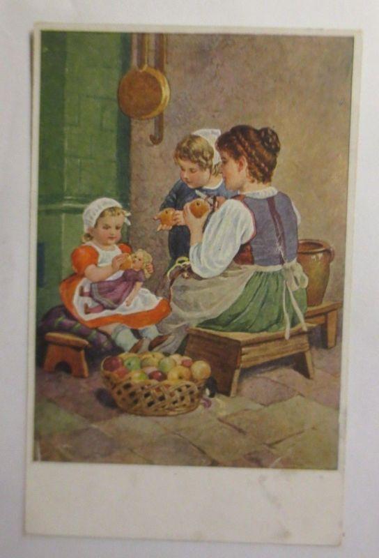 Herbst, Kinder, Puppe, Äpfel, Kinderfreuden 1908 ♥ (2172)