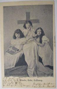 Religion, Kinder, Glaube, Liebe, Hoffnung, 1901 aus Kiel (40881)