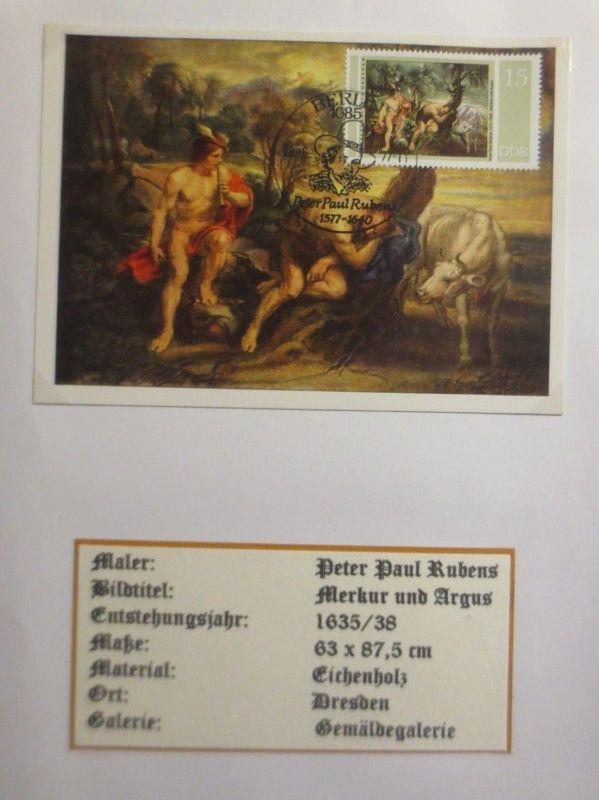 DDR, Maximumkarte, Peter Paul Rubens, Merkur und Argus, 1977 ♥ (3352)