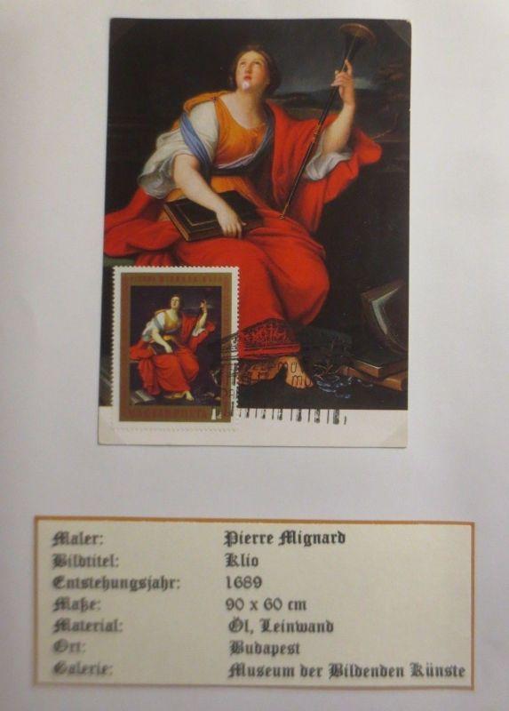 Ungarn, Maximumkarte, Pierre Mignard, Klio 1970  ♥ (3968)