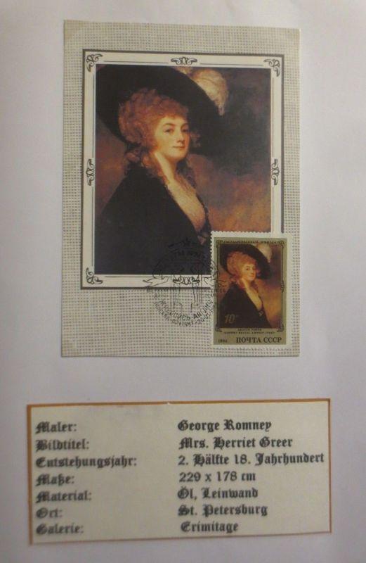Russland , Maximumkarte George Rommey, Mrs. Herriet Greer, 1984 (3952)