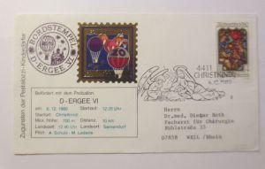 Weihnachten, Christkindl, 20. Ballonpost Österreich  1980 ♥  (3480)