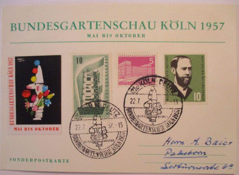 Blumen, Bundesgartenschau BUGA Köln 1957 (49736)