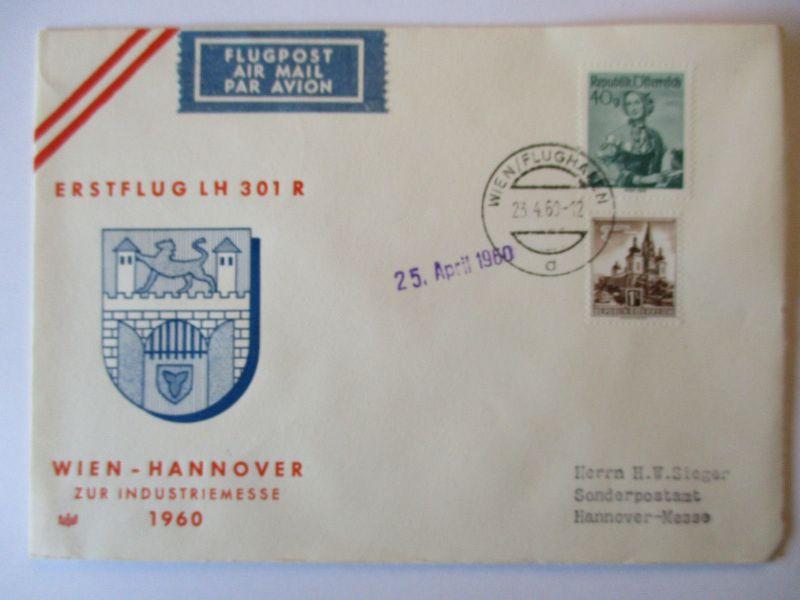 Österreich, Lufthansa Erstflug zur Industriemesse 1960 in Hannover (49474)