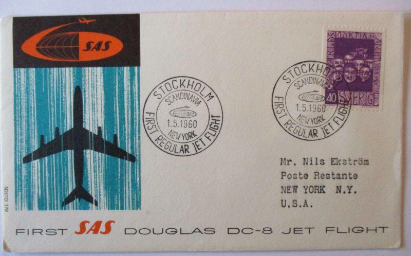 Schweden, SAS Erstflugbrief 1960 (50427)