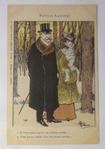 Künstlerkarte, Männer, Frauen, Mode, Wald,    1910, Albert Guillaume   ♥  (3267)
