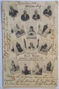 Künstlerkarte, Frauen, Männer, Mode, Kuss,  1910, I. A. May ♥ (2988)