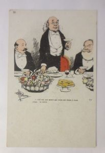Künstlerkarte, Männer, Stammtisch, Sekt,   1900, Albert Guillaume ♥  (3219)
