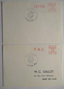 Frankreich ATM 2 Briefe 1984 (48290)