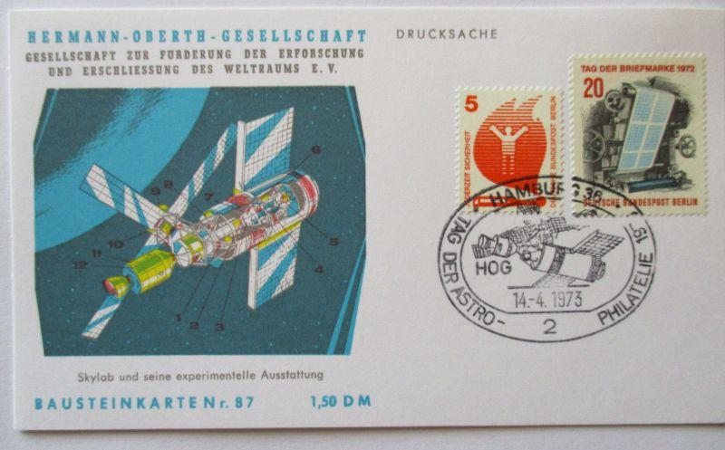 Raumfahrt, Hermann Oberth Gesellschaft, Bausteinkarte 87 (28812)
