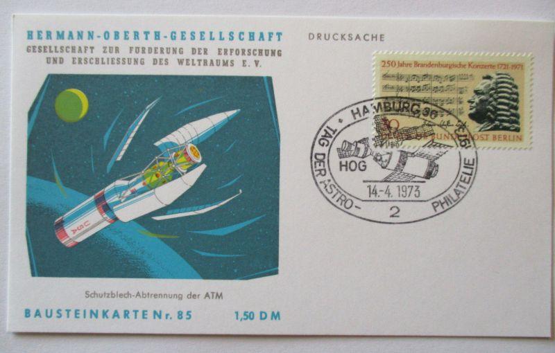Raumfahrt, Hermann Oberth Gesellschaft, Bausteinkarte 85 (10798)