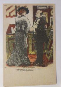 Künstlerkarte, Frauen, Männer, Mode, Stola,   1900, Albert Guillaume   ♥ (3199)