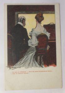Künstlerkarte, Frauen, Männer, Mode, Oper,   1900, Albert Guillaume   ♥  (3193)