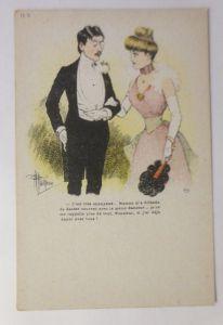 Künstlerkarte, Frauen, Männer, Mode, Ball,  1900, Albert Guillaume   ♥  (3189)