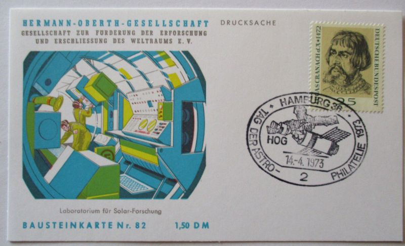 Raumfahrt, Hermann Oberth Gesellschaft, Bausteinkarte 82 (46125)