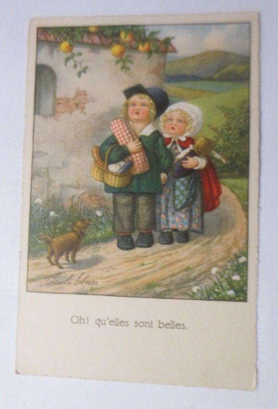 Kinder, Apfelbaum, Spielzeug, Dackel,     1930, Pauli Ebner  ♥  (67496)