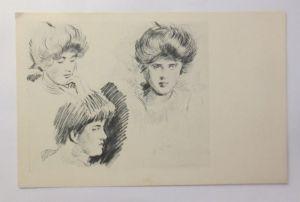 Künstlerkarte, Frauen, Mode,   1900, E.D.S. Paris ♥ (3013)