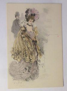 Künstlerkarte, Frauen, Mode, Hutmode,  1900,  ♥ (3006)