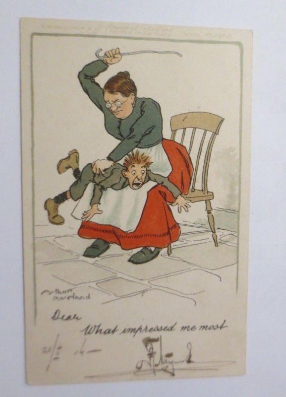 Scherzkarte, Männer, Frauen, Schläge,   1904 Arthur Moreland   ♥  (37258)