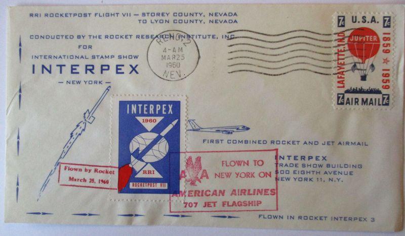 Flugpost, Raketen und Jet Airmail, Interpex 1960 (9567)