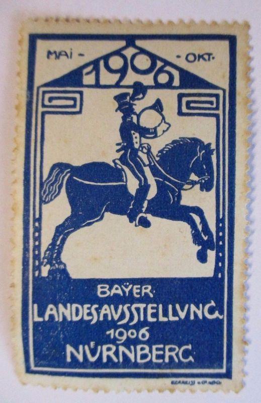 D.Reich, Landesausstellung Nürnberg 1906, postfrische Vignette (49487)