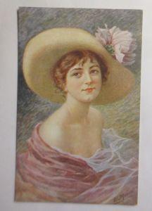 Künstlerkarte, Frauen, Mode, Hutmode, Sun Ray,  1910, E. Meier ♥ (2771)